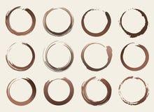 Vektor-unterschiedlicher Kaffee befleckt Zusammenfassungs-gesetzte Illustration Lizenzfreies Stockfoto