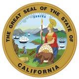 Vektor USA Kalifornien Lizenzfreies Stockbild