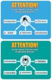 Vektor-uthärdad överföring av smittsamma sjukdomar royaltyfri illustrationer