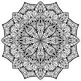 Vektor utsmyckad mandala på en vit bakgrund Arkivbilder