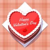 vektor Valentin i form av en kaka på Royaltyfri Fotografi