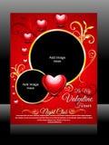 Vektor Valentine Day Flyer Lizenzfreie Stockfotografie