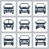 Vektor van icons stellte ein: Vorderansicht Lizenzfreies Stockbild