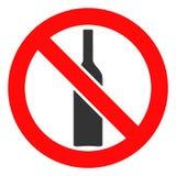 Vektor verbotene Alkohol-Ikone stock abbildung