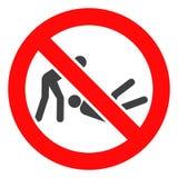 Vektor verbotene Judo-Kampf-Ikone lizenzfreie abbildung