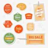 Vektor-Verkaufs-Weihnachten lizenzfreie abbildung