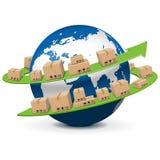 Vektor-Versand-Konzept Lizenzfreies Stockfoto
