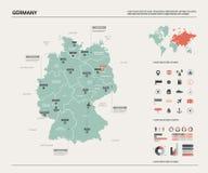 Vektor?versikt av Tysklandet H stock illustrationer