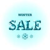 vektor vinter för vektor för bakgrundsförsäljningstext Arkivbilder