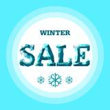 vektor vinter för vektor för bakgrundsförsäljningstext Royaltyfri Foto