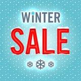 vektor vinter för vektor för bakgrundsförsäljningstext Royaltyfria Bilder