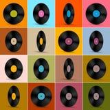 Vektor-Vinylaufzeichnungs-Disketten-Hintergrund Lizenzfreie Stockfotografie