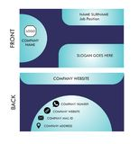 Vektor-Visitenkarte für Kontakt, IDENTITÄT stock abbildung