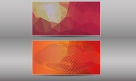Vektor-Visitenkarte-Schablonen eingestellt Stockfotos