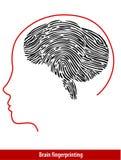 Vektor von Brain Fingerprint Stockbild