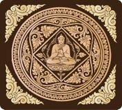 Vektor von Buddha-Hintergrund Lizenzfreies Stockfoto