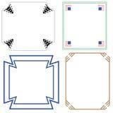 Vektor von dekorativen Rahmen Behälterrädern Stockfotografie