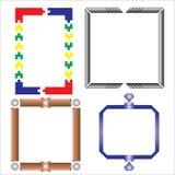 Vektor von dekorativen Rahmenspielwaren Lizenzfreie Stockfotos