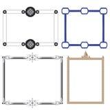 Vektor von dekorativen Rahmenspielwaren und -zahn Stockfoto