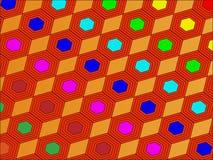 Vektor von Hexagonen stock abbildung