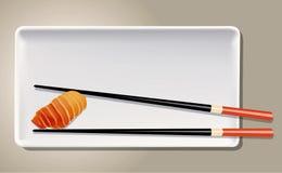 Vektor von Salmon Nigiri Sushi Stockfotografie