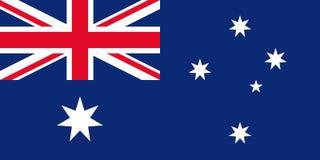 Vektor vorhanden Australische Staatsflagge Auch im corel abgehobenen Betrag stock abbildung