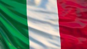Vektor vorhanden Illustration 3d der wellenartig bewegenden Flagge von Italien stock abbildung