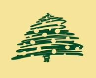 Vektor-Weihnachts- und des neuen Jahreshandgemalte Dekoration Lizenzfreie Stockfotos