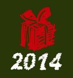 Vektor-Weihnachts- und des neuen Jahreshandgemalte Dekoration Lizenzfreie Stockbilder
