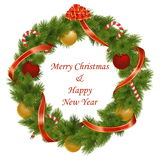 Vektor-Weihnachtskranz Stockfotos