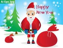 Vektor Weihnachtsmann Lizenzfreies Stockfoto