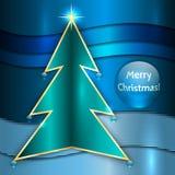 Vektor-Weihnachtsmetallische Gruß-Karte stock abbildung