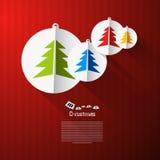 Vektor-Weihnachtsmotiv Lizenzfreies Stockbild