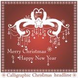 Vektor-Weihnachtsschlagzeilen lizenzfreie abbildung