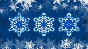 Vektor-Weihnachtsschneeflocken auf einem schönen schneebedeckten Hintergrund ENV 10 vektor abbildung