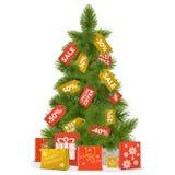Vektor-Weihnachtsverkaufs-Konzept Lizenzfreies Stockbild
