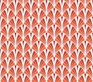Vektor-Weinlese Art Deco Seamless Pattern Gewellte Beschaffenheit mit Kreisen Retro- stilvoller Hintergrund Lizenzfreie Stockbilder