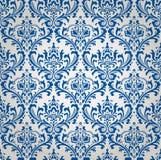 Vektor-Weinlese-Blumendamast-Muster Stockbilder