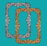 Vektor-Weinlese-goldenes Rahmen-Design Stockbilder
