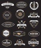 Vektor-Weinlese Logos und Insignas lizenzfreie abbildung
