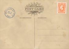 Vektor-Weinlese-Postkarten-Schablone vektor abbildung