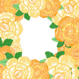 Vektor-Weinlesegrußkarte mit gelben Blumen Lizenzfreies Stockbild