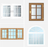 Vektor-Windows-Plastik Glosed Lizenzfreie Stockfotos