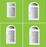 Vektor-Windows-Plastik Glosed Stockfotografie