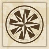 Vektor-Windrose auf einem Weltkartehintergrund Lizenzfreies Stockfoto