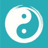 Vektor Yin Yang in Zen Circle Illustration Stockbilder