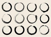 Vektor Zen Circles oder Fleck-Symbol-Satz-Illustration Stockbild