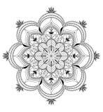 Vektor Zentangle-Mandalahintergrund Stockbilder