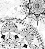 Vektor Zentangle-Mandalahintergrund Stockfotografie