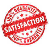 Vektor-Zufriedenheits-Stempel Lizenzfreies Stockbild